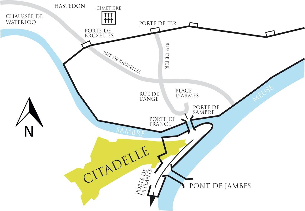 Carte - Combat de Namur